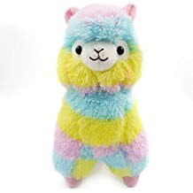 Peluches de llama kawaii multicolor alpacasso grande