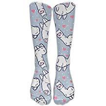 calcetines con llamas baratos de mujer largos de moda