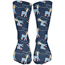 calcetines cortos estampados de llamas graciosos moda