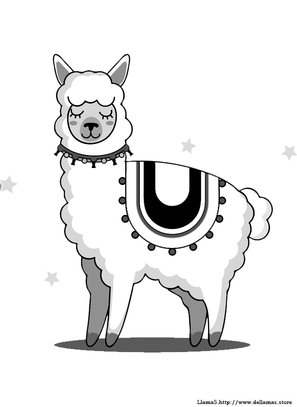 Dibujos De Llamas Para Colorear Y Alpacas
