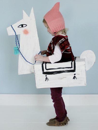 como hacer un disfraz de animal llama original barato casero niños