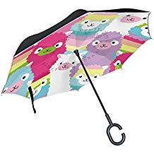 paraguas infantiles de llama colorido invertido antiviento originales