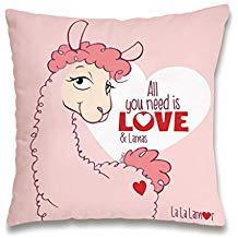 llama love cojin de llamas rosa moderno peluche