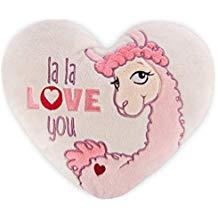 cojin de llama love forma corazon rosa suave bonito
