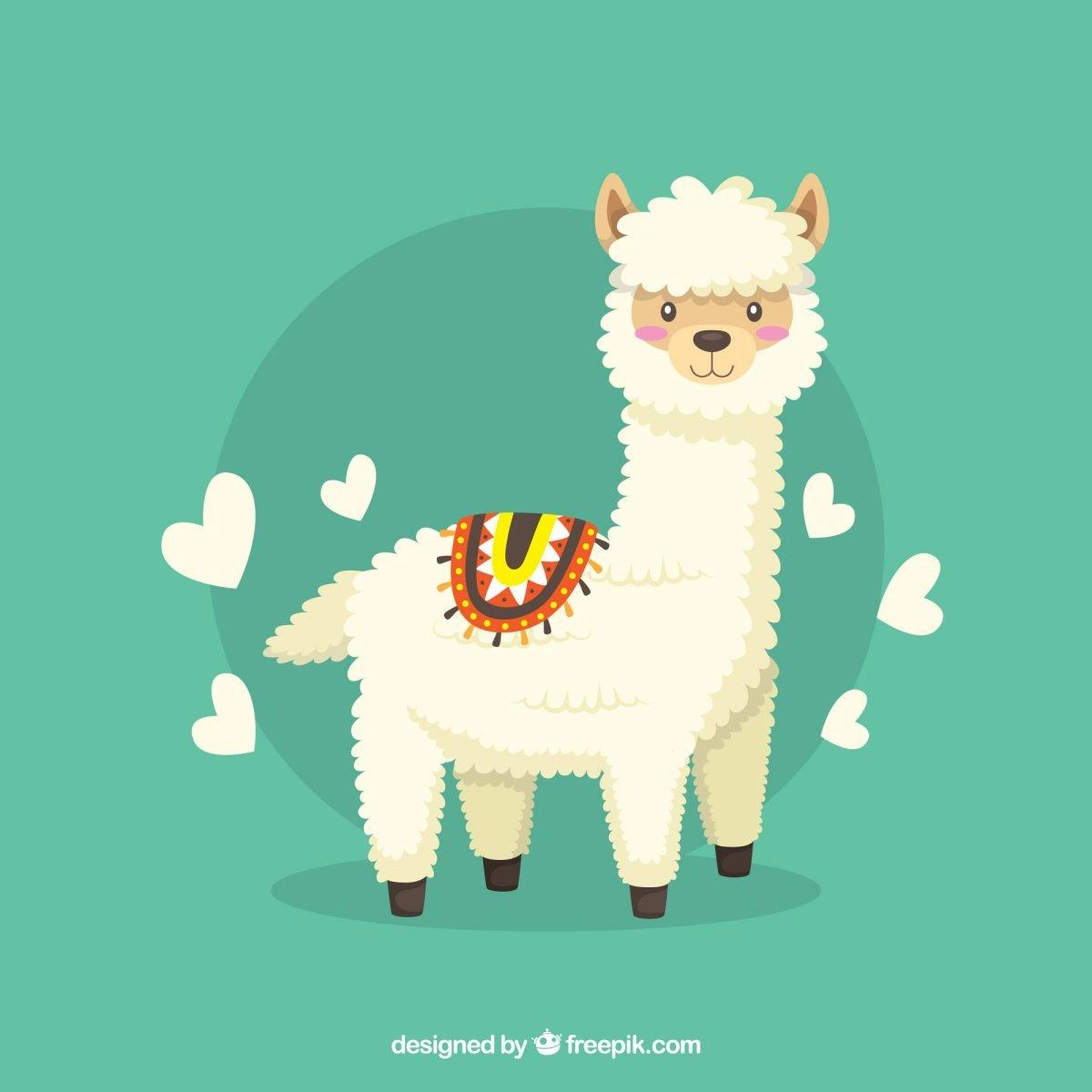 cute llama ilustracion descarga gratis imprimir