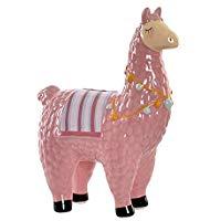 figura de llama color rosa deco hogar