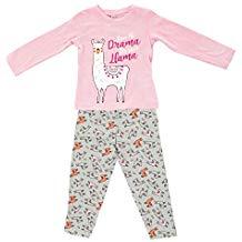pijama de llama para niña invierno moda divertido original
