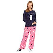 pijama de mujer invierno gracioso original diseño llamas con zapatillas